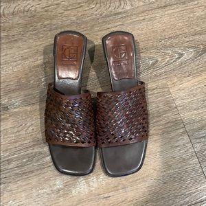 Cole Haan Brown Block Heel Sandal/Mule-Sz 8 1/2 AA